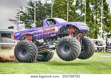 Monster Truck Slingshot At Truckfest Norwich Uk 2017