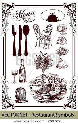 Vector Set Restaurant Symbols
