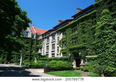 University Of Chicago In Summer, Il,
