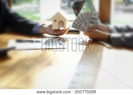 Concept Home Loan Customer Buy Home And Get Money