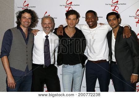 LOS ANGELES - AUG 19:  Daniel Hall, Max Shippee, Ryan Ashton, Darnell Kirkwood, Abhi Sinha at the Young and Restless Fan Event 2017 at the Burbank Convention Center on August 19, 2017 in Burbank, CA