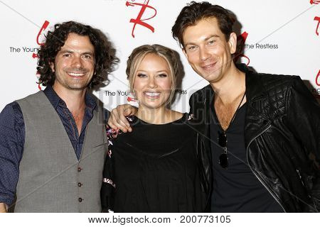 LOS ANGELES - AUG 19:  Daniel Hall, Melissa Ordway, Ryan Ashton at the Young and Restless Fan Event 2017 at the Marriott Burbank Convention Center on August 19, 2017 in Burbank, CA