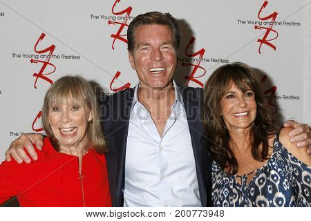 LOS ANGELES - AUG 19:  Marla Adams, Jess Walton, Peter Bergman at the Young and Restless Fan Event 2017 at the Marriott Burbank Convention Center on August 19, 2017 in Burbank, CA