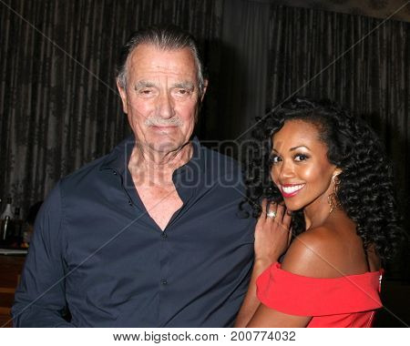 LOS ANGELES - AUG 19:  Eric  Braeden, Mishael Morgan at the Young and Restless Fan Event 2017 at the Marriott Burbank Convention Center on August 19, 2017 in Burbank, CA