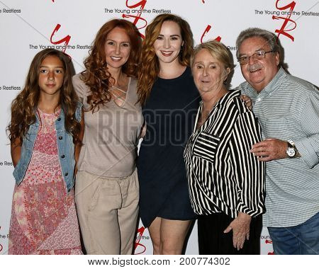LOS ANGELES - AUG 19:  Sister, Camryn Grimes, Mom, Grnadparents at the Young and Restless Fan Event 2017 at the Marriott Burbank Convention Center on August 19, 2017 in Burbank, CA