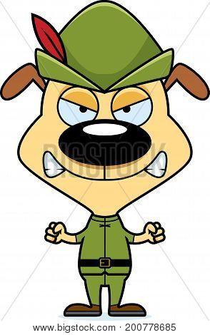 Cartoon Angry Robin Hood Puppy