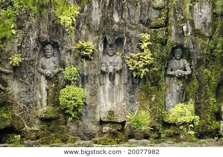 Statues In Bali Indonesia Garden