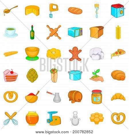 Bakery house icons set. Cartoon style of 36 bakery house vector icons for web isolated on white background