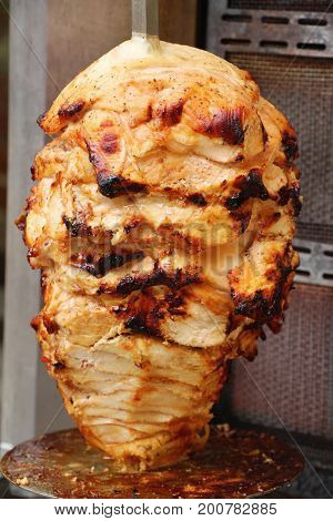 Kebab doner turkish traditional flavors is delicious