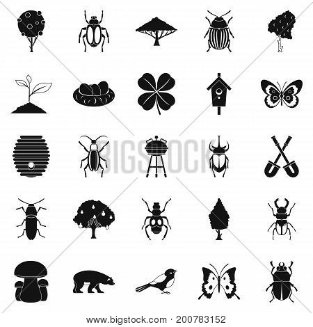 Herbaceous icons set. Simple set of 25 herbaceous vector icons for web isolated on white background