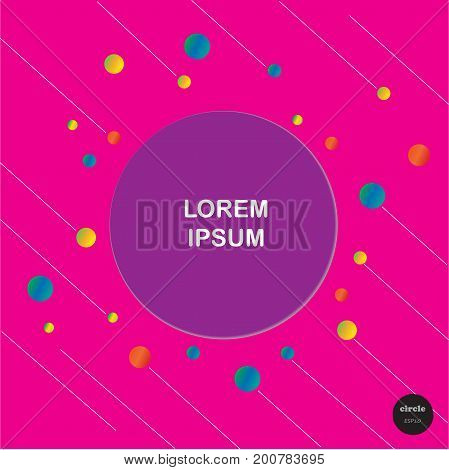 Vector Design Colorful Circles With Line Elements Template. Frame Of Circle Use To Website Or Busine