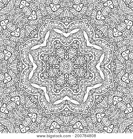 Background with black and white outline concentric pattern