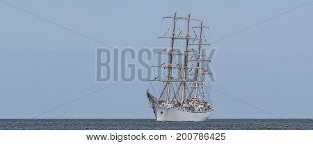 SAILING SHIP - Frigate Dar Mlodziezy at sea