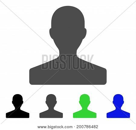 Customer flat vector pictogram. Colored customer, gray, black, blue, green icon variants. Flat icon style for web design.