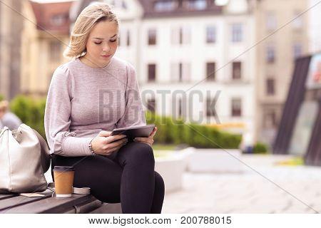 Beautiful girl at the street