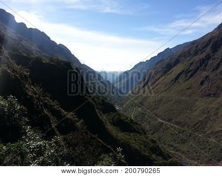 The Death Road In Yungas, Bolivia, South America.
