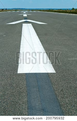 markings airfield runway air asphalt arrow fly airplane ship