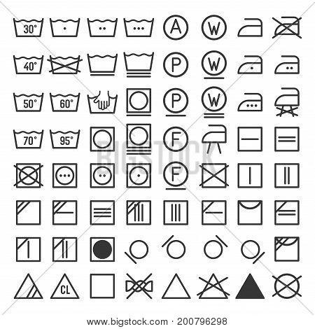 Laundry and Washing Icon Set. Vector illustration