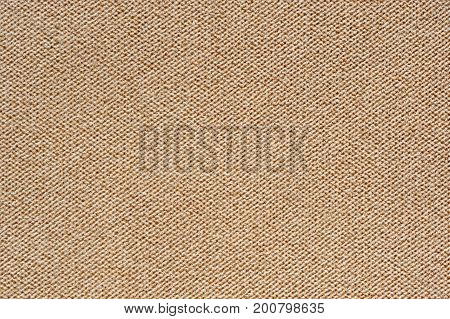 A close-up of beige fluffy fabric texture