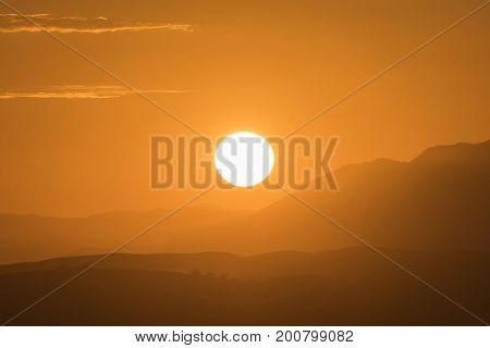 Sunset view from Rocky Peak Park in Ventura County California.