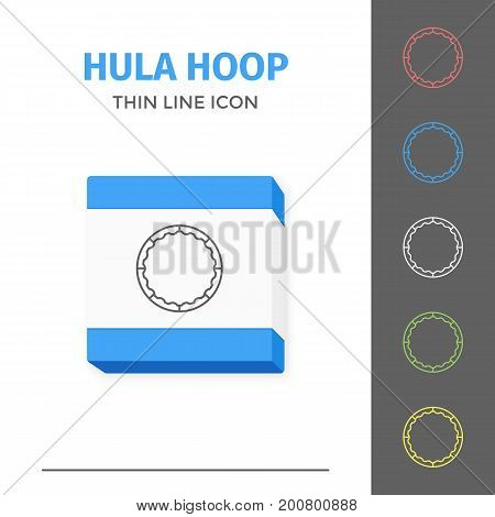 Simple thin line stroked fitness hula hoop vector isolated sport icon. Concept of healthy still life equipment