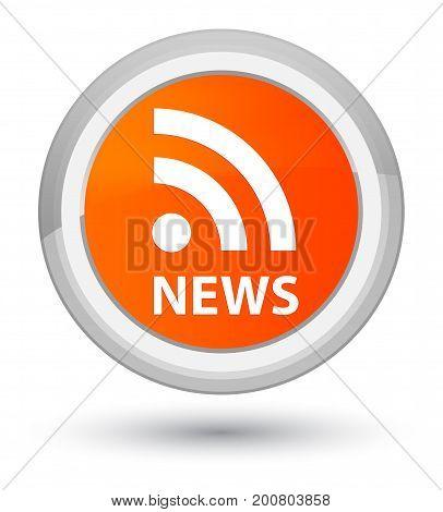 News (rss Icon) Prime Orange Round Button
