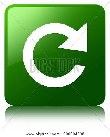 Reply Rotate Icon Green Square Button
