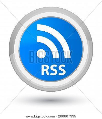 Rss Prime Cyan Blue Round Button