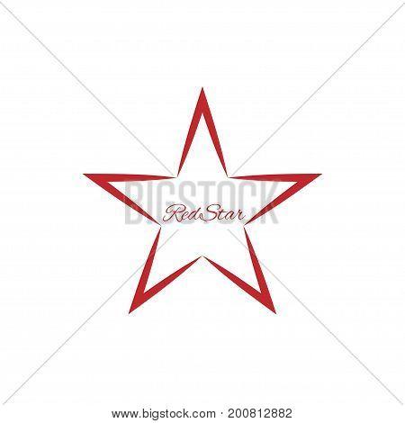 Red Star symbol. Abstract concept logo, communism symbol or winner sign