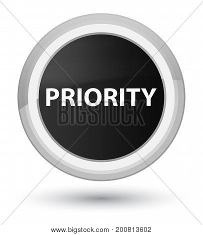 Priority Prime Black Round Button