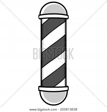 A vector illustration of a Barbershop Pole.