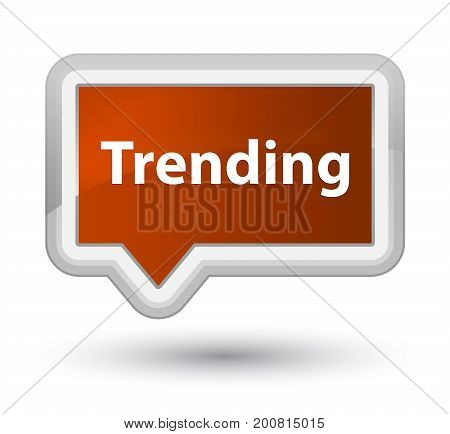 Trending Prime Brown Banner Button