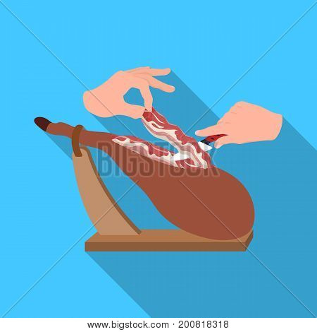 meat single icon in flat style.Meat vector symbol stock illustration .