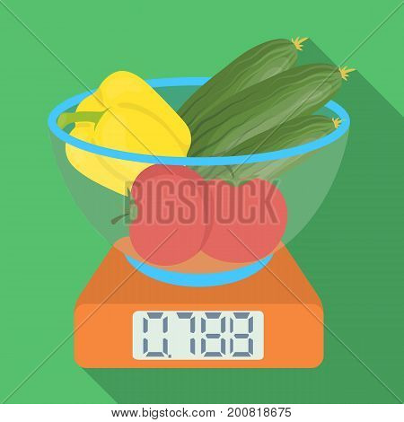Scales, single icon in flat style.Scales, vector symbol stock illustration .