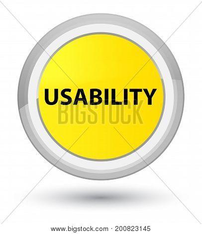 Usability Prime Yellow Round Button