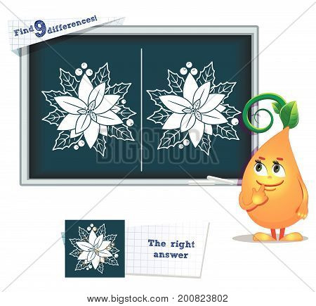 Game Find 9 Differences Flower