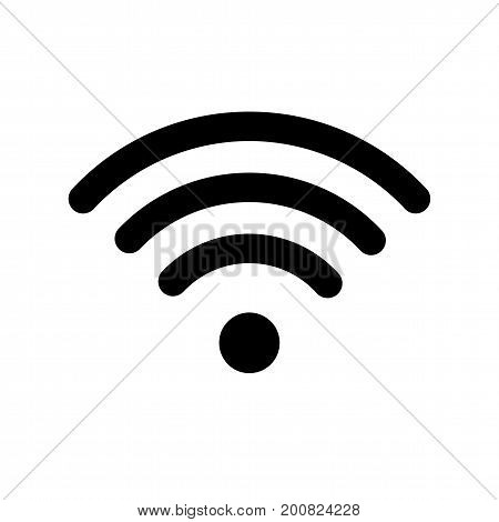 Wireless and wifi icon or sign for remote internet access. Podcast vector symbol. Wifi zone symbol