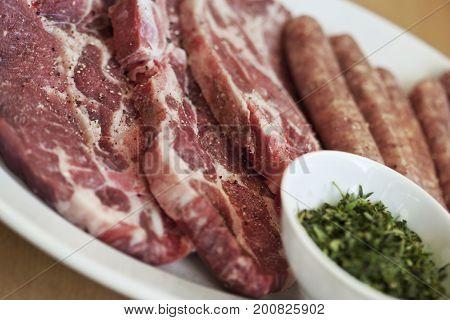 Pork Chop And Sausage
