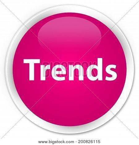 Trends Premium Pink Round Button