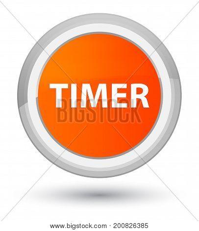Timer Prime Orange Round Button