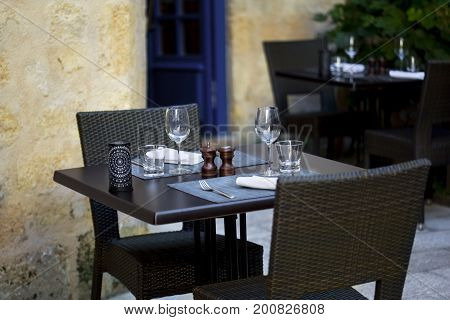 Terrace Of A Bistro