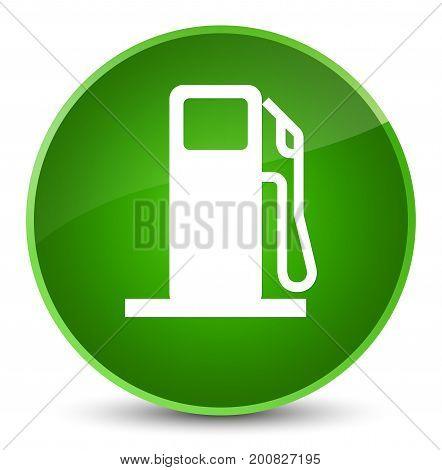 Fuel Dispenser Icon Elegant Green Round Button