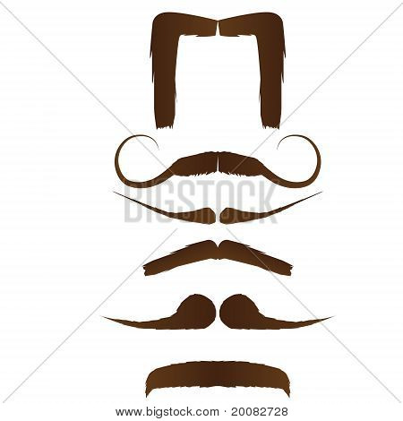 Set Of Moustache Designs