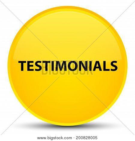 Testimonials Special Yellow Round Button