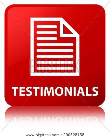 Testimonials (page Icon) Red Square Button