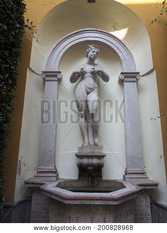 Classical Statue Of Woman In Turin