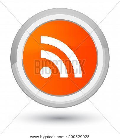 Rss Icon Prime Orange Round Button