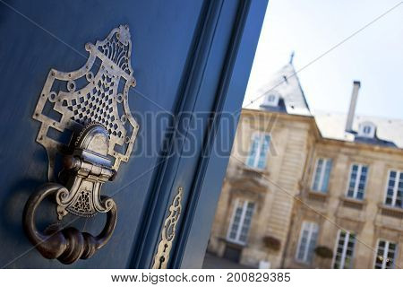 Close Up Of A Door Knocker
