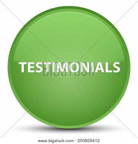Testimonials Special Soft Green Round Button