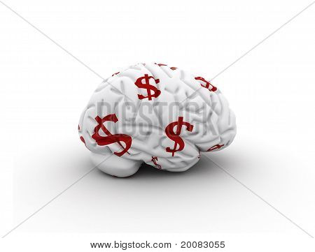 Brain With Dollar Signs